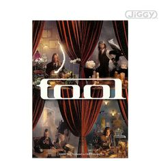 """Tool sticker with picture of band members and band's logo in white. Measures 3.5"""" x 5""""."""