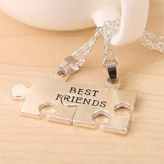 Hot new friend best friends necklace best friends one half pendant Friendship Necklace Couples necklace