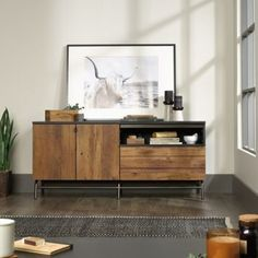 Enhance your living room with the vintage-inspired aesthetic of the Boulevard Café Credenza. This retro-industrial TV stand provides perfect, minimalist storage. Colorful Furniture, Unique Furniture, Kids Furniture, Living Room Furniture, Furniture Design, Furniture Stores, Kitchen Furniture, Industrial Furniture, Furniture Cleaning