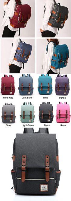 Which color do you like? Vintage Canvas Travel Backpack Leisure Backpack&Schoolbag #vintage #leisure #Bag #backpack #rucksack #school