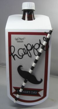 by Janet: Crazy About You, Hello You Thinlits, & Mustache Framelits - all from Stampin' Up!