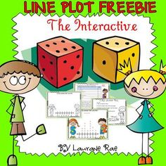 LINE PLOT INTERACTIVE FREEBIE from TeachToTell on TeachersNotebook.com -  (10 pages)  - This is a basic starter interactive activity to introduce recording data on a line plot. A six-sided die is rolled 15 times and numbers are recorded. A task card interprets data collected.