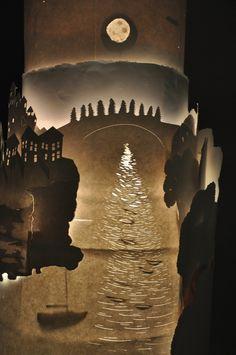 Paper light sculpture by Nicholas Wright, via Behance