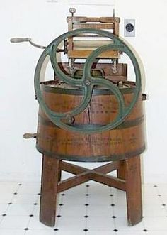 Antique washing machine..