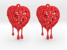 Blender + JewelCraft + Fluid Designer for Printing Cad Software, Open Source, Heart Earrings, Artwork Prints, Personalized Jewelry, Create Your Own, 3d Printing, Objects, Jewelry Design