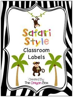 Classroom Labels - Safari / Jungle Theme