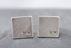 The Ultimate Gift Guide For The Modern Man (40+ Ideas!) | Keep those cuffs in place with these customizable silver cuff links.