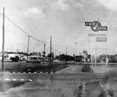 1960 - Kwik Chek sign at Bird Road and Ludlum Road by Don Boyd Vintage Florida, Old Florida, Miami Florida, South Florida, Miami Beach, Miami Images, Miami Photos, Costa, Crandon Park
