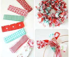How to make a rag wreath DIY wreath ideas easy decoration ideas