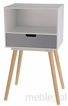 Drewniana komódka / stolik nocny - jedna szuflada