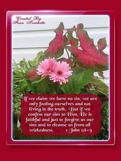 Bible Verse For Today, Bible Verses, 1 John 1 8, Bible Forgiveness, The Fool, Cleanse, Faith, Scripture Verses, Loyalty