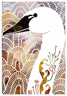 mayuko fujino paper cut art