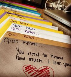 Valentine Gift Ideas for Boyfriend - Open When...Envelopes - Click Pic for 40 DIY Valentine Gift Ideas for Husband
