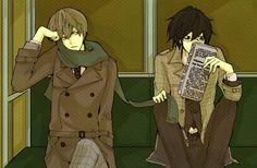 Tags: Fanart, DEATH NOTE, L Lawliet, Yagami Raito