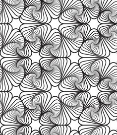 Illustration about Black and White Op Art Design, Vector Seamless Pattern Background, Lines Only. Illustration of illustration, abstract, geometrical - 36059451 Vector Pattern, Pattern Art, Pattern Design, Abstract Pattern, Free Pattern, Optical Illusion Quilts, Optical Illusions, Illusions Mind, Bridget Riley Op Art