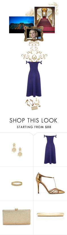 """""""(V) Attends a reception at Buckingham Palace launching the UK-India Year of Culture"""" by immortal-longings ❤ liked on Polyvore featuring Saloni, SJP, La Regale and Tiffany & Co."""