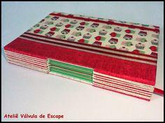 Ateliê Válvula de Escape: Caderno Artesanal com Costura Longstitch Buttonhole - Encadernação Artística