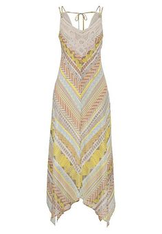 hanky hem patterned dress with lace top (original price, $44) available at #Maurices