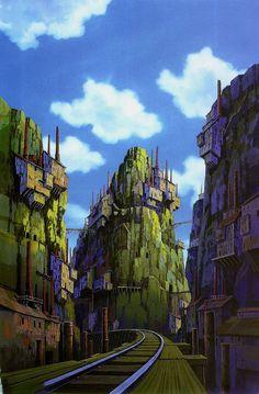 Castle Laputa Pics Of Stars In The Sky | laputa_castle_in_the_sky_concept_art_background_19.jpg