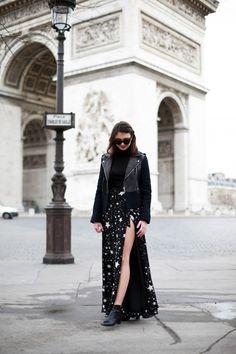 The Brunette - Lovers + Friends stars skirt
