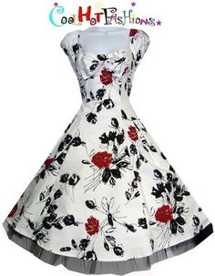 Red and Black Rockabilly Bridesmaid Dress