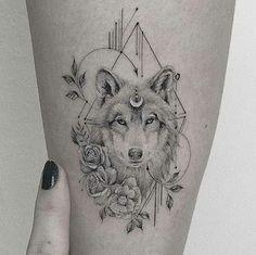 Head Tattoos, Music Tattoos, Arm Tattoo, Body Art Tattoos, Sleeve Tattoos, Tattoo Wolf, Circle Tattoos, Tatoos, Wolf Tattoo Back