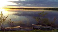 Sunset captured via drone.