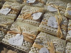 unique wedding favor idea - all natural soap! @Carrie Mcknelly Johnson Ciao @ Chiangmai