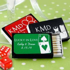 Personalized Vegas Wedding Matchboxes