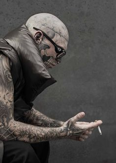Do not mess with guys who have face tattoos and neck tattoos!  What happens when these tattoo models are inked up? How do they get more gigs?