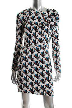 Diane Von Furstenberg NEW Printed Cocktail Dress BHFO