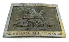 Vintage National Rifle Association Firearms Belt Buckle 1980's NRA #NationaRifleAssociation #Classic