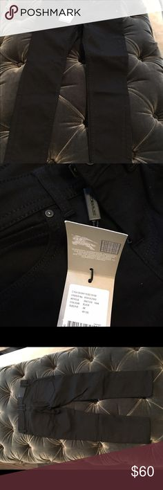 Brand new w /tags Burberry girls Jeans Black Burberry skinny jeans for girls w/tags, runs thru to size. Burberry Bottoms Jeans