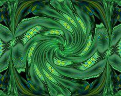 Designer Green Swirl   ....  Fine Art America Print