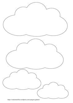 Télécharger au format des gabarits nuages au format A4 et en PDF Gabarit nuage