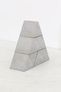 Bhakti Baxter | 9 Triangular Blocks. 2014, Concrete