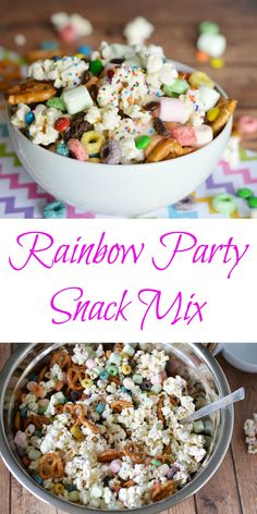 We love a great flavored popcorn, and creating a fun kid-friendly Rainbow Flavored Popcorn Party Mix is a great addition to our summer sleepovers, birthday parties, and even weekend barbecues. - Teaspoon of Goodness (party mix) Savory Snacks, Easy Snacks, Summer Snacks, Healthy Snacks, Kid Snacks, School Snacks, Flavored Popcorn, Popcorn Recipes, Popcorn Mix