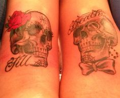 Till death,his and her skulls More