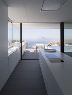 Casa Punta Albir by RGB arquitectos, Altea, Alicante Modern Kitchen Interiors, Modern Kitchen Design, Interior Design Kitchen, Modern Design, Küchen Design, House Design, Design Ideas, Modernisme, Best Kitchen Designs