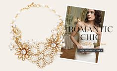 Romantic chic style for spring! #jewelry #Embellish #floral