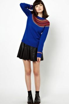 Modern twist to a preppy classic... Fair Isle Sweaters — The Origin Of The Ultimate Winter Knit #refinery29
