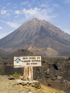 The volcano on Fogo, Cape Verde.