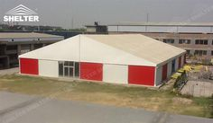 Shelter provides semi-permenant aluminum commercial storage for distribute center, production storage and short term warehosue to meet urgent storage needs.