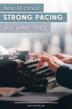Does your story read too fast or two slow? Don& leave readers bored or bewildered. Learn how to create strong pacing for your story today! Writing Genres, Book Writing Tips, Pre Writing, Fiction Writing, Writing Resources, Writing Help, Writing Skills, Writing Prompts, Writing Courses