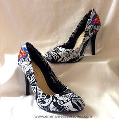 Superman Heels Size 7 1/2 by KalElle on Etsy
