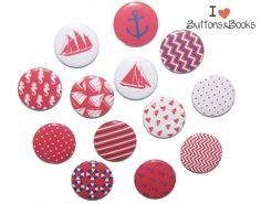 Magnet+Set+Maritim+13+Stück+Anker+Schiff+Meer+von+Buttons&Books+auf+DaWanda.com