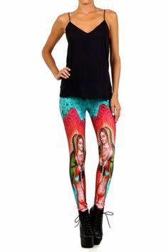 Guadalupe Leggings. Shop now at POPRAGEOUS.com!