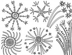 Fireworks in the Sky Coloring Page Download Print Online