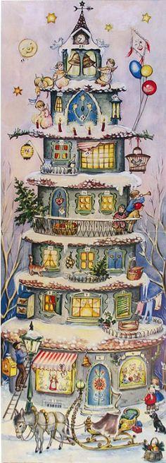 1000 images about christmas advent calendars on pinterest antique christmas ornaments. Black Bedroom Furniture Sets. Home Design Ideas