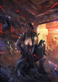ArtStation - Fan art of Quiet (Metal Gear Solid V), Red Pencil Art